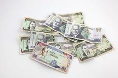 Ein Stapel der jamaikanischen Banknoten Lizenzfreies Stockfoto
