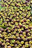 Ein Stapel der Mangostanfrucht Stockfoto