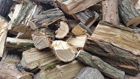 Ein Stapel des Brennholzes brennholz Stockfoto