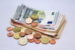 Ein Stapel des Euros Lizenzfreies Stockfoto