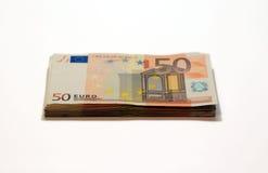 Ein Stapel des Euros Lizenzfreie Stockfotos