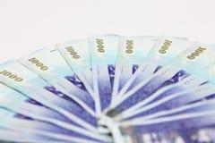 Ein Stapel des Geldes in Taiwan Lizenzfreie Stockfotografie