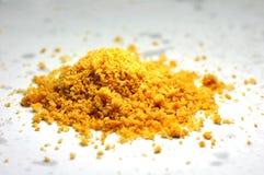 Ein Stapel des köstlichen gelben Plätzchenpulvers Lizenzfreies Stockbild