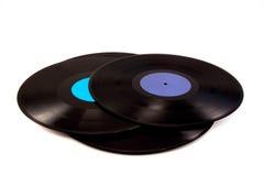Ein Stapel des Vinyls Stockbild