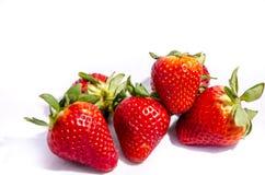 Ein Stapel Erdbeerrot und -saft Lizenzfreie Stockfotografie