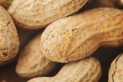 Ein Stapel Erdnüsse Stockfotos