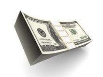 Ein Stapel FO 100 Dollaranmerkungen stock abbildung