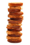 Ein Stapel kleine Brotcroutons Lizenzfreie Stockbilder