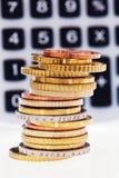 Ein Stapel Münzen Stockfoto