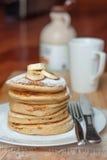 Ein Stapel Pfannkuchen Stockfoto