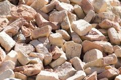 Ein Stapel von alten Ziegelsteinen Stockfoto