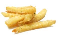 Ein Stapel von appetitanregenden Pommes-Frites Lizenzfreies Stockfoto