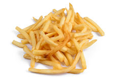 Ein Stapel von appetitanregenden Pommes-Frites stockfotografie