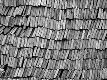 Ein Stapel von den Ziegelsteinen zusammen angehäuft Stockbild