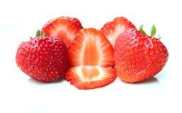 Ein Stapel von Erdbeeren Lizenzfreie Stockfotos