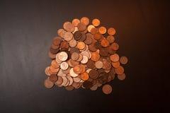 Ein Stapel von Eurocents Lizenzfreies Stockfoto