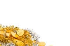 Ein Stapel von Goldmünzen Stockfotografie