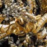Ein Stapel von Metallfrühlingen Auszug Lizenzfreie Stockfotos
