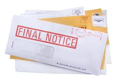 Ein Stapel von Rechnungs-/junk-Post Stockbilder