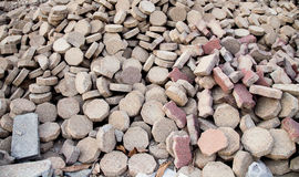 Ein Stapel von Ziegelsteinen. Lizenzfreies Stockbild