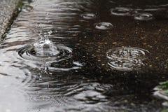 Ein starker Regen Stockbild