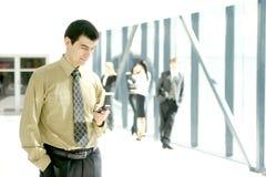Ein stattlicher Geschäftsmann in einem modernen Büro Lizenzfreie Stockfotos