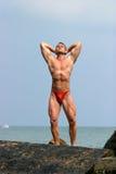 Ein stattliches, Muskelmann Lizenzfreies Stockbild