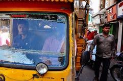 Ein Stau in Jaipur, Indien stockfotos