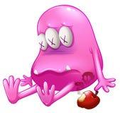 Ein sterbendes rosa Monster Lizenzfreies Stockfoto