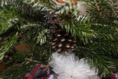 Ein Stoß auf dem Weihnachtsbaum Lizenzfreies Stockbild