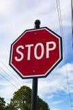 Ein Stoppschild Lizenzfreie Stockfotografie