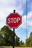 Ein Stoppschild Stockfoto