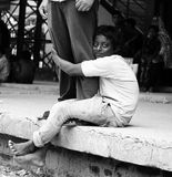 Ein Straßenbettler Stockfotos