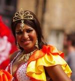 Ein Straßentänzer Karneval am London-Notting Hill Lizenzfreie Stockbilder