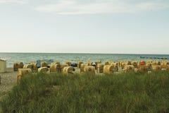 Ein Strand auf Fehmarn Stockbild