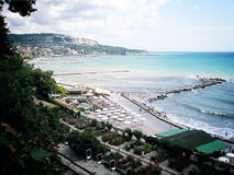 Ein Strand in Bulgarien Lizenzfreies Stockfoto