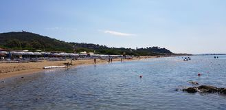 Ein Strand in Castiglione-della Pescaia, Toskana, Italien lizenzfreies stockbild