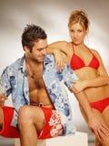 Ein Strandpaar Lizenzfreies Stockfoto