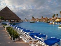 Ein Strandurlaubsort in Cancun Stockbild