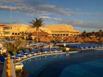 Ein Strandurlaubsort in Cancun Stockfotos