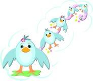 Ein Strom der blauen Vögel Lizenzfreie Stockfotografie