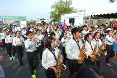Ein Student Marching Band Lizenzfreies Stockbild