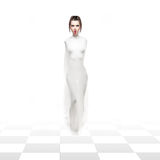 Ein Studio impersionation der weißen Schachkönigin Stockfotos