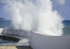 Ein Sturm in Meer Lizenzfreies Stockfoto