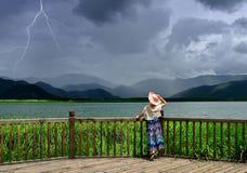 Ein Sturm nähert sich Stockfoto