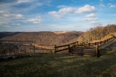Ein szenisches übersehen in West-Pennsylvania Stockbilder