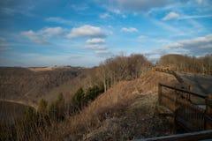 Ein szenisches übersehen in West-Pennsylvania Lizenzfreies Stockbild
