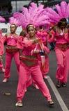 Ein Tänzer am Notting- Hillkarneval Stockbild