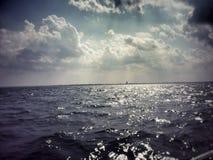 Ein Tag auf dem See Stockbild