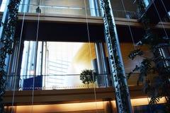 Ein Tag beim europäischen Perlamento von Straßburg - Frankreich 034 stockfotografie